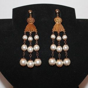Vintage Chandelier Pearl Earrings